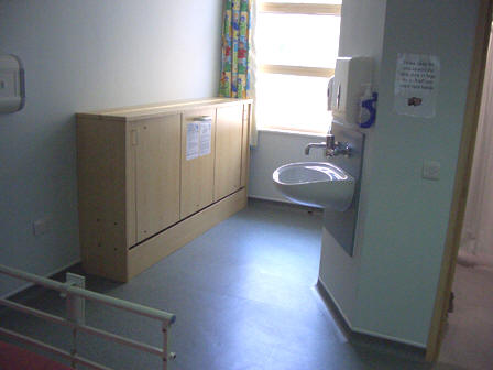 Bristol Royal Hospital for Children - 'Horizontal' 'Wiskaway'® 6000H Wallbed - folded up