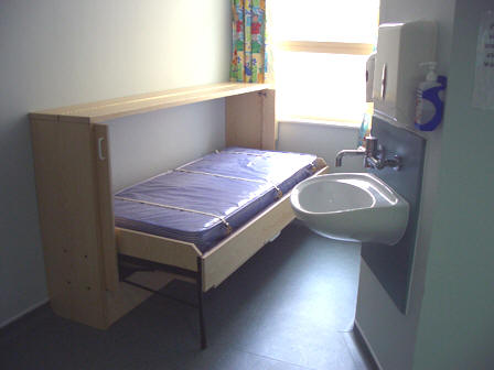 Bristol Royal Hospital for Children - 'Horizontal' 'Wiskaway'® 6000H Wallbed - open