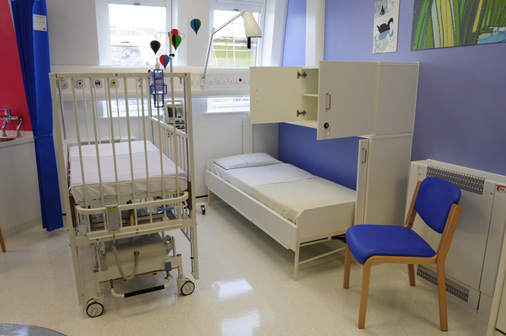 Alder Hey children's Hospital - 'Wiskaway'® 7500H Wallbed with matching 7600H locker - open