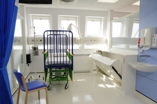 Alder Hey children's Hospital - 'Wiskaway'® 7500H Wallbed with matching 7600H locker - closed